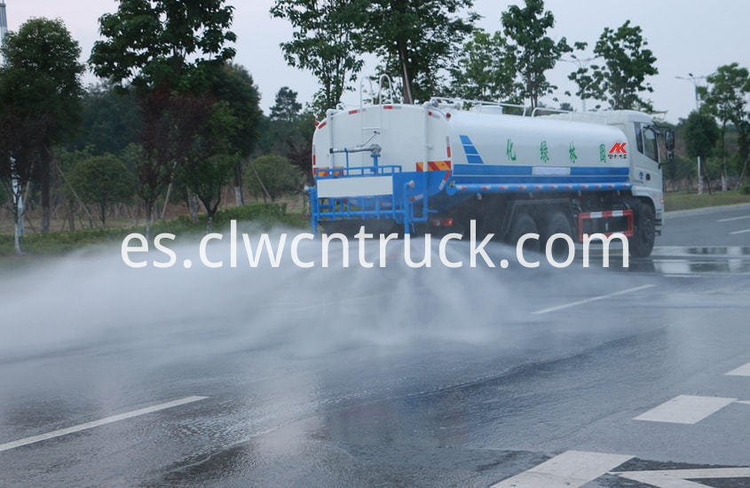 water tank truck in action 1